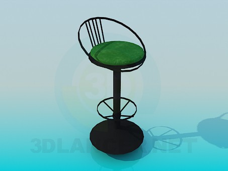 3d model High chair on one leg - preview