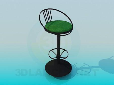 3d модель Високий стілець на одній ніжці – превью