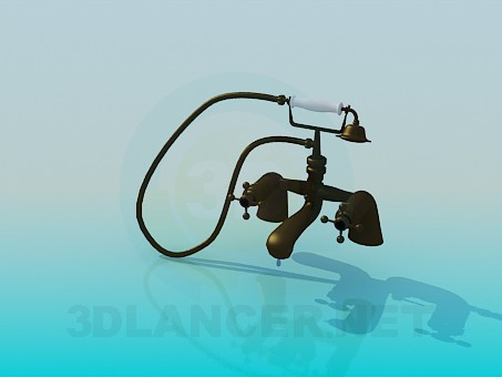 3d model Bath faucet in the old style - preview