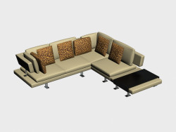 Corner sofa (with table) Bronco