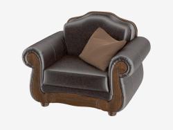 Armchair leather Barcelona Antique