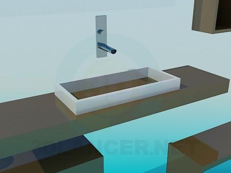 3d модель Набор мебели к умывальнику – превью