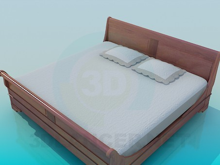 3d model Double bed - preview