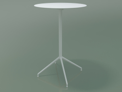 Tavolo rotondo 5751 (H 103.5 - Ø69 cm, aperto, Bianco, V12)