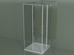 Cabina doccia ZA + ZA + ZG 90, 3 lati con porta scorrevole ad angolo