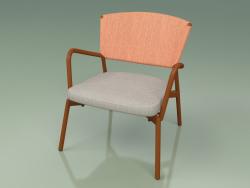 Armchair with soft seat 027 (Metal Rust, Batyline Orange)
