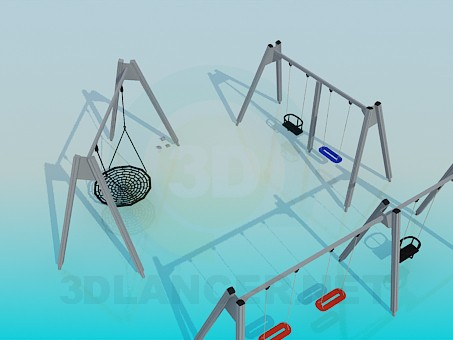 3d modeling Swing for children model free download