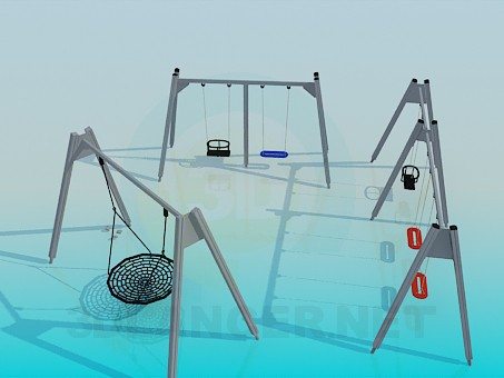 3d model Swing for children - preview