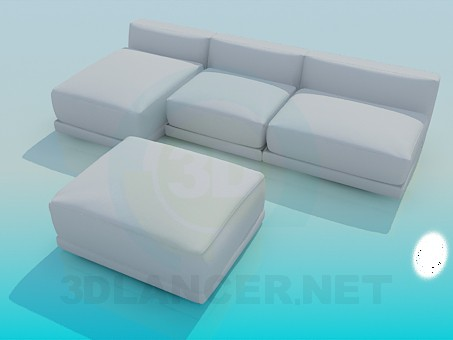 3d modeling Sofa and banquette complete model free download