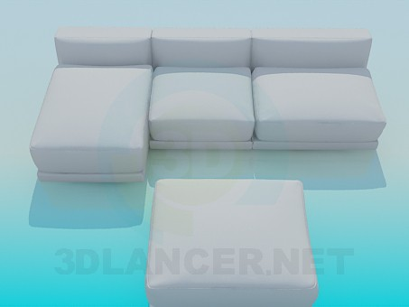 3d model Sofa and banquette complete - preview