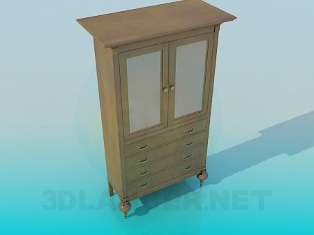 3d модель Шкафчик с ящиками – превью