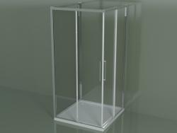 Shower cubicle ZA + ZA + ZG 100, 3-sided with sliding corner door