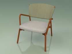 Armchair with soft seat 027 (Metal Rust, Batyline Olive)