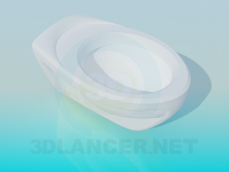 3d model Oval toilet - preview