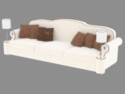 Sofa in the style of art deco Diplomate