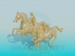Cavalli di monumento tre