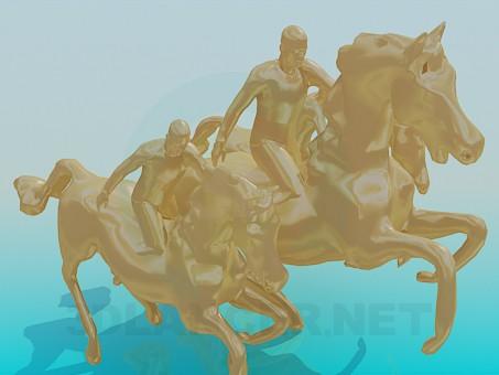 3d модель Памятник Три коня – превью