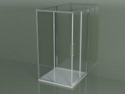 Box doccia ZA + ZA + ZG 110, 3 lati con porta scorrevole ad angolo