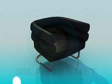 3d model Armchair on metal support - preview