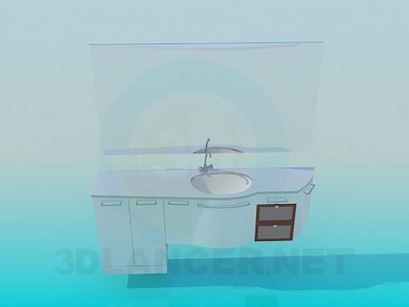 3d моделирование Тумба к умывальнику модель скачать бесплатно