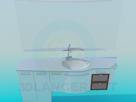 3d model Cupboard to the sink - preview