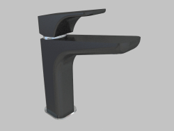 Washbasin mixer with raised casing - chrome black Hiacynt (BQH B21K)
