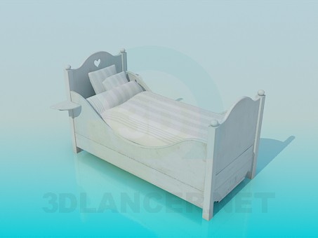 3d modeling Children's bed model free download