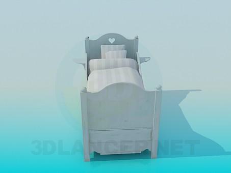 modelo 3D Cama para niños - escuchar