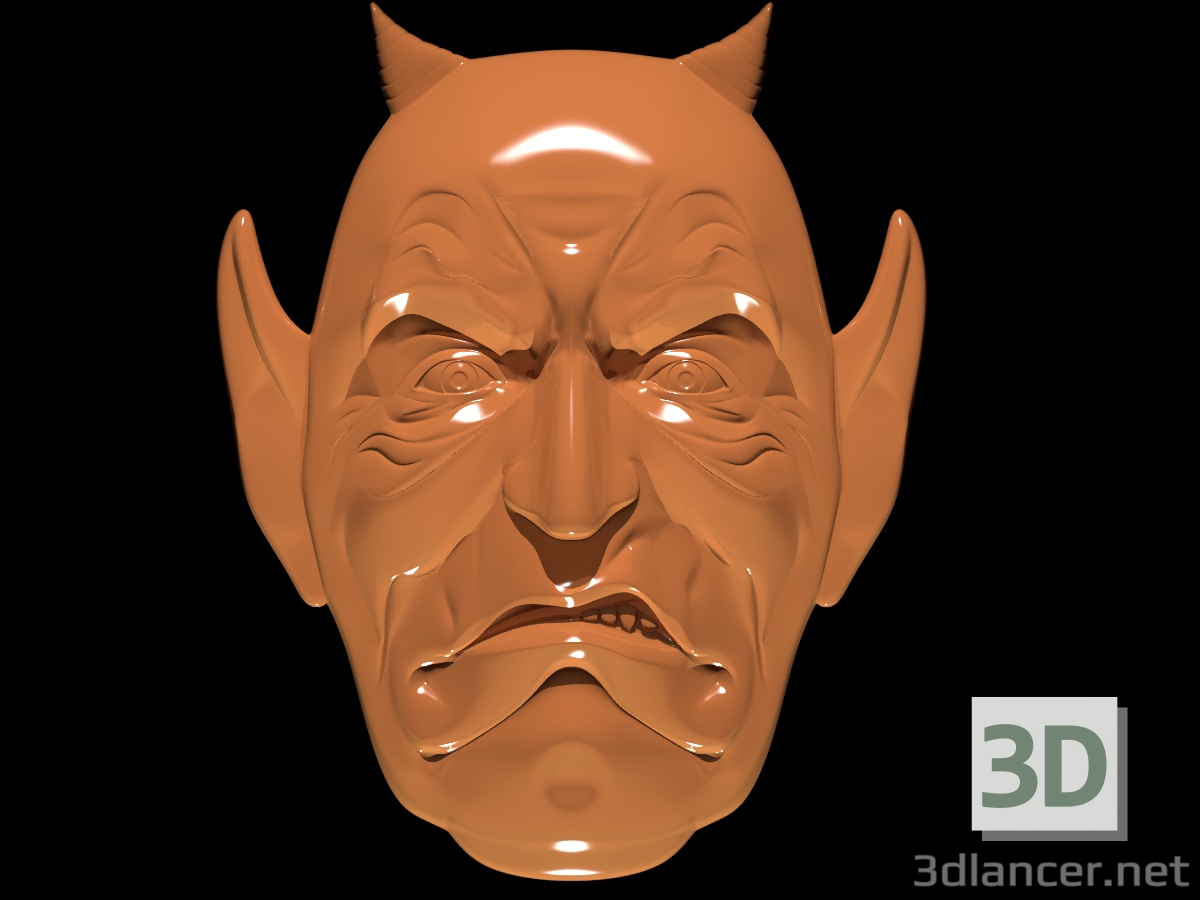 3d Mask repelling evil spirits model buy - render