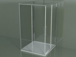 Box doccia ZA + ZA + ZG 120, 3 lati con porta scorrevole ad angolo