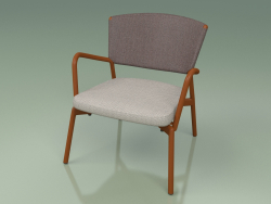 Armchair with soft seat 027 (Metal Rust, Batyline Brown)