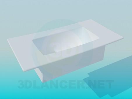 3d модель Футуристичний умивальник – превью