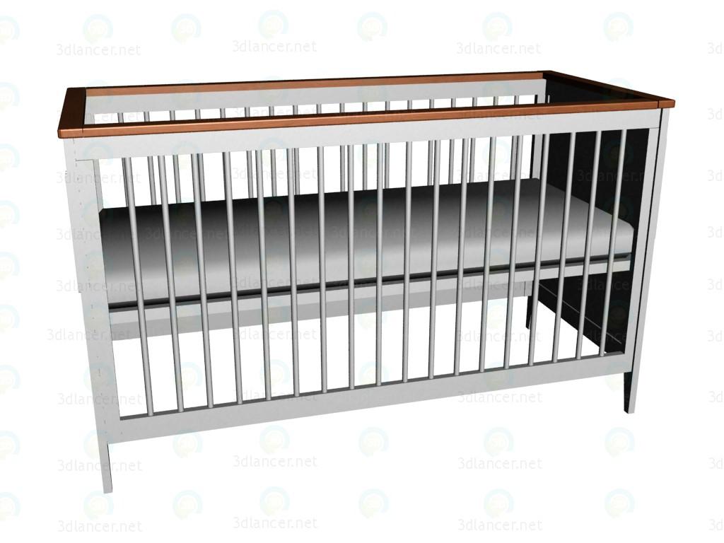 3d модель Кроватка 140х70 – превью
