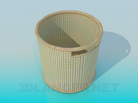modelo 3D Cesta - escuchar
