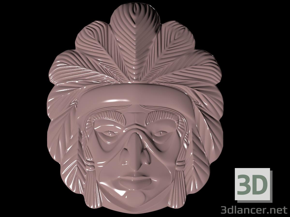 3d Mask of the indian model buy - render