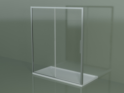 Sliding shower cubicle ZN 180, for a shower tray in a niche