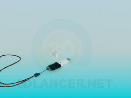 3d model USB flash drive - preview