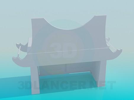 3d модель Тумба под зеркало – превью