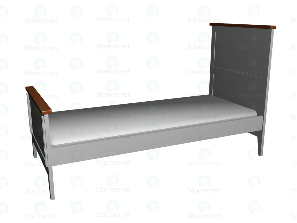 3d model Cot 140x70 (2nd version) - preview