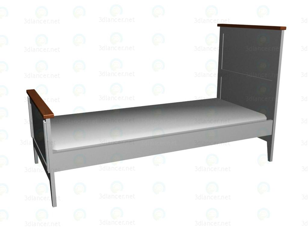 3d модель Кроватка 140х70 (2-й вариант) VOX – превью