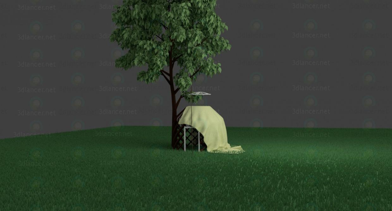 3D modeli Yurt - önizleme