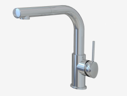 Sink mixer with side lever (26023)