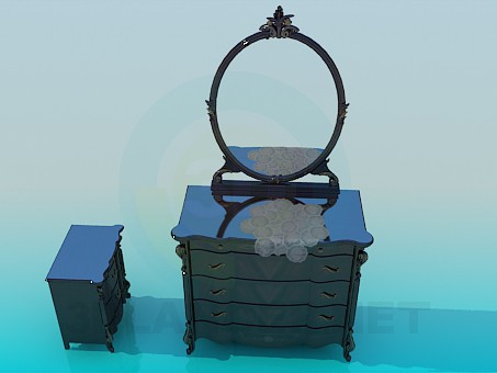modelo 3D Apósito con gabinete - escuchar