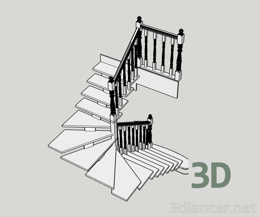 3d model Ladder model - preview