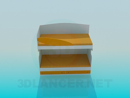 3d model Deck bed - preview