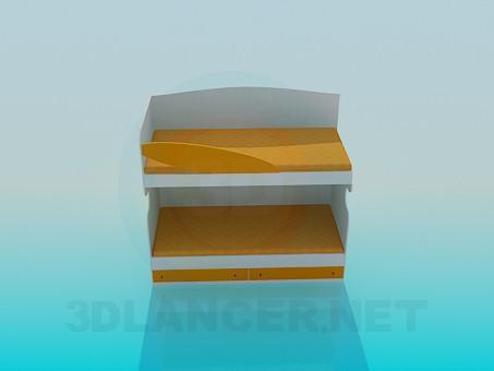 3d моделирование Двухярусная кровать модель скачать бесплатно