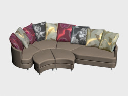 Sofa modular Lebourg (II-version)