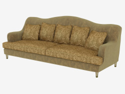Triple sofa in Art Deco style Ginevra