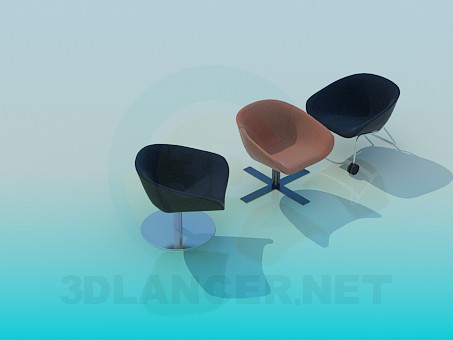 3d model Chairs to relax - preview