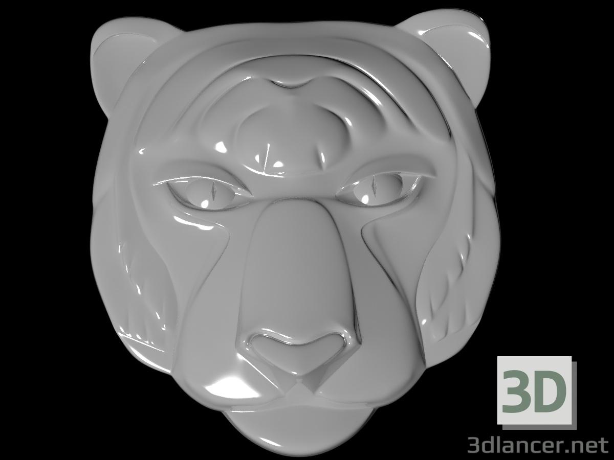 3 डी एक युवा शेर का मुखौटा मॉडल खरीद - रेंडर